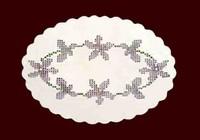 Piatto ovale con violette volorate