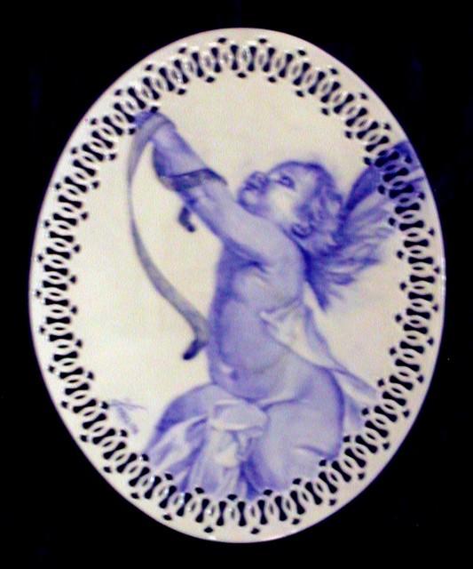Grande piatto ovale con Angioletto