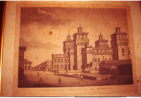 Stampa Castello di Ferrara prima del restauro
