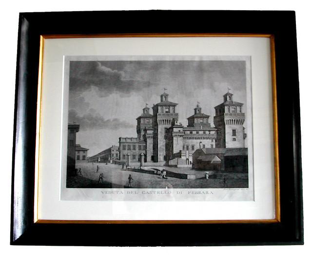 Stampa Castello di Ferrara dopo il restauro